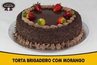 Torta Brigadeiro com Morango