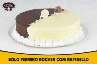 Bolo Ferrero Rocher com Raffaello