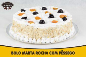 Bolo Marta Rocha com Pêssego