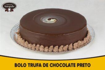 Bolo Trufad de Chocolate Preto