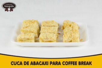 Cuca de Abacaxi para CoffeBreak