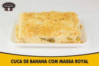 Cuca de Banana com Massa Royal