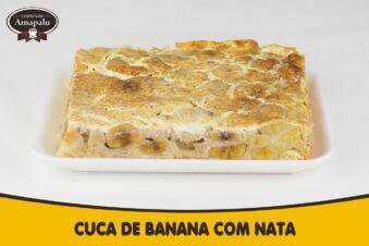 Cuca de Banana com Nata