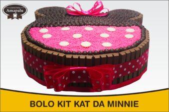 Bolo Kit Kat da Minnie